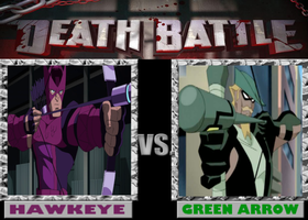 DeathBattle: Hawkeye vs Green Arrow by Mystic-Man