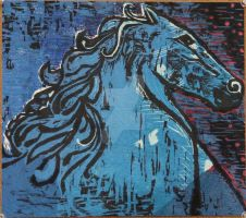 Dream Vision Blue Horse by RonnieRuddle