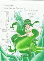 Green mermaid princess, Rina by Aino-Fred