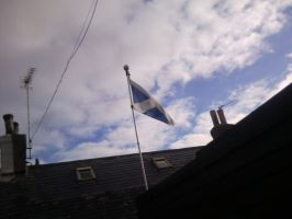 The Scottish Flag by MrScottishGuy