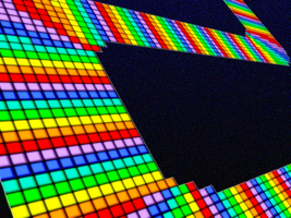 Perspective Rainbow Road by G-L-I-T-C-H-Y
