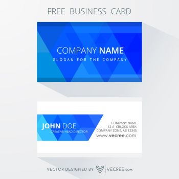 Free Corporate Business Card Design Free Vector by vecree