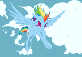 Epic Rainbow Dash by Ookami-95