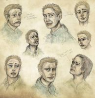 Winchester weird faces sketchdump (Supernatural) by dawnsio-ar-y-dibyn