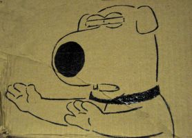 Brian Griffin - Stencil by moon-glaze