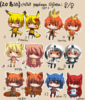 20 points for chibi - POKEMON GIJINKA 1 -CLOSD- by Ayuki-Shura-Nyan