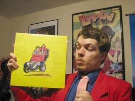 The backside of the Lupin vinyl record by FilmmakerJ