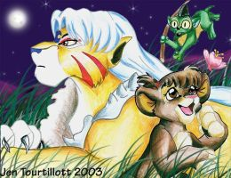 Sesshomaru,rin and Jaken by axeljr9876