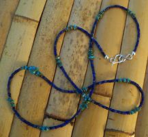 Lapis and turquoise necklace by artefaccio