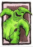Oogie Boogie Sketch Card by Fellhauer