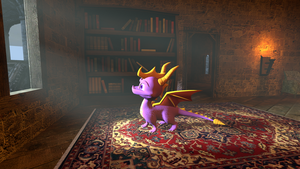 Spyro in Castle by ZOomERart