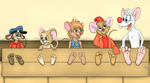 Five Bound Mice by SodiePawp