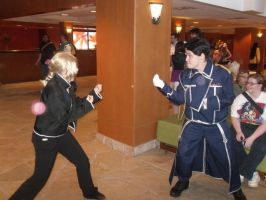 Roy and ed battle cosplay by peppermix14
