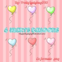 Hearts Balloons png by PrettyLadybug093