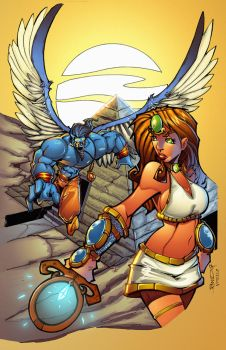 Legend of Isis 3 Cover by rantz
