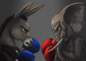 Political Boxing by Raikoh-illust