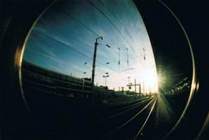 Lomo fisheye 2 - Train station by bubus666