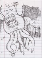 Flying tentacle monster by RC-Iname