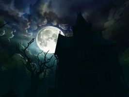 Haunted house background 14 by indigodeep