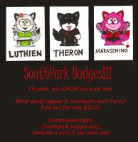 Southpark Badges by LuthienNightwolf