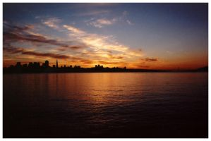 San Francisco Sunset II by JordanWalker