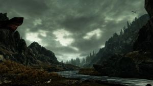 River Hjaal-skyrim by Quercus1989
