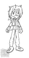 Aichi the Hedgehog_lineart by aprict