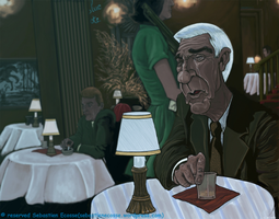 Leslie Nielsen The Naked gun 2 by Sebastien-Ecosse