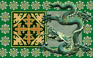 Green Chinese Dragon by kabegami