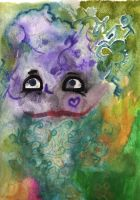 Face Cloaked with Colors by Silanceemikki