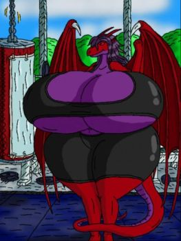 Dracolith at the gym. by shifter124