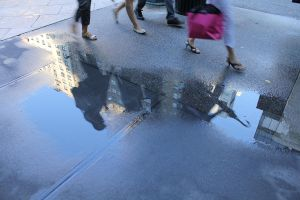 Puddle Shadows.. by wingsofdragons