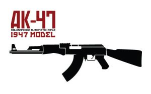 AK 47 Stencil by car54