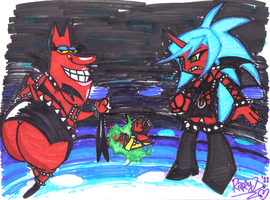 Red Guy and Kneesocks w.Scanty by RyomaGod