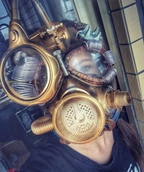 Steampunk mask by LenaCostumes