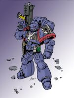 space marine by HELLSPAWN2210
