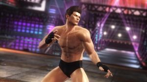 DOA5 Jann Lee Fighter Costume by darkblueking