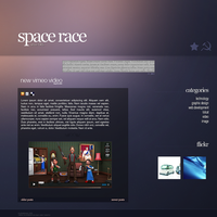 Space Race Blog Design by arnoldisawesome