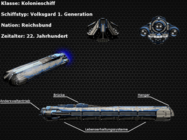 Sternenfront: Volksgard Colony Ship by nachtmahr2
