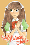 happy birthday jenna!! by ohmyglub