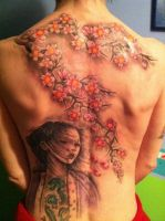 Back tattoo by aoifequinn