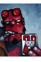 Comic Con submission Hellboy's 20th by JaimeMArtist