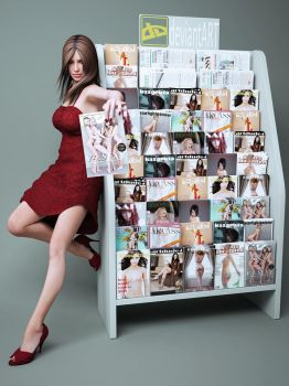 magazine stand by SaphireNishi