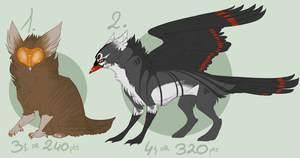 Points n Cash Creature Adopts. CLOSED. by SusuSmiles