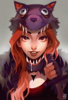 Wolf Girl by chuwenjie