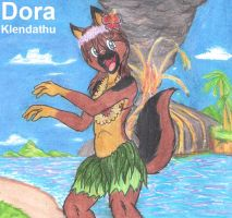 Dora in Hawaii XD by DingoPatagonico