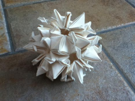 Origami Kusudama Peace Crane by SophieWithLove