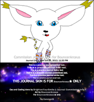 Commission Journal Skin for BouncerArceus by BrightenYourSmile