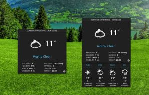 Elegant Weather for xwidget by jimking