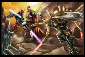 Commission: Star Wars - Heroes Vs. Villains by lizzbuenaventura